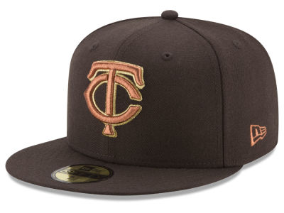 Minnesota Twins New Era MLB Brown on Metallic 59FIFTY Cap