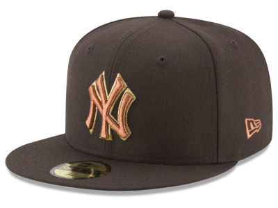 New York Yankees New Era MLB Brown on Metallic 59FIFTY Cap
