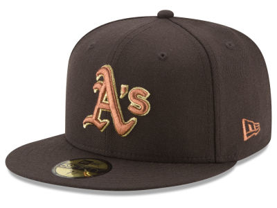Oakland Athletics New Era MLB Brown on Metallic 59FIFTY Cap