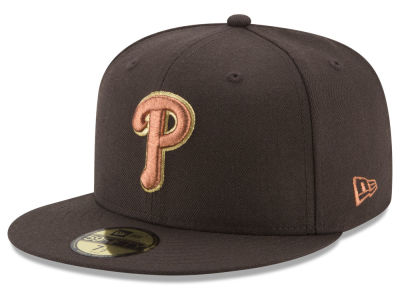 Philadelphia Phillies New Era MLB Brown on Metallic 59FIFTY Cap