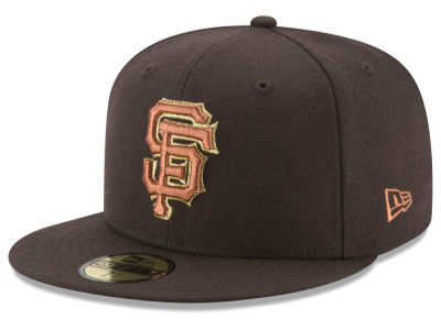San Francisco Giants New Era MLB Brown on Metallic 59FIFTY Cap