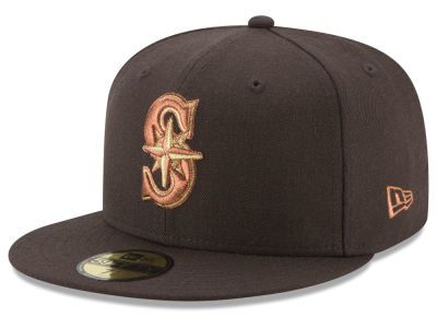 Seattle Mariners New Era MLB Brown on Metallic 59FIFTY Cap