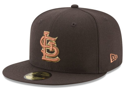 St. Louis Cardinals New Era MLB Brown on Metallic 59FIFTY Cap