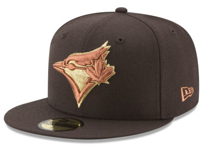 Toronto Blue Jays New Era MLB Brown on Metallic 59FIFTY Cap