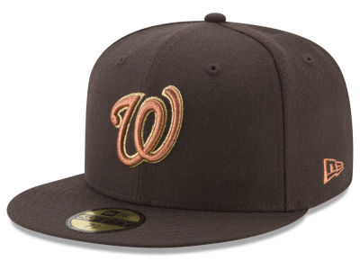 Washington Nationals New Era MLB Brown on Metallic 59FIFTY Cap