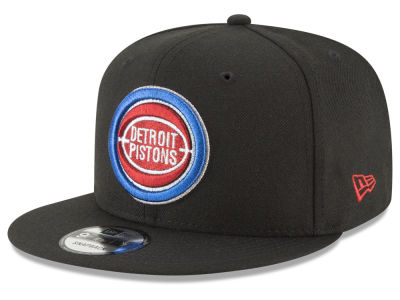 Detroit Pistons New Era NBA Team Metallic 9FIFTY Snapback Cap