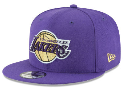 Los Angeles Lakers New Era NBA Team Metallic 9FIFTY Snapback Cap