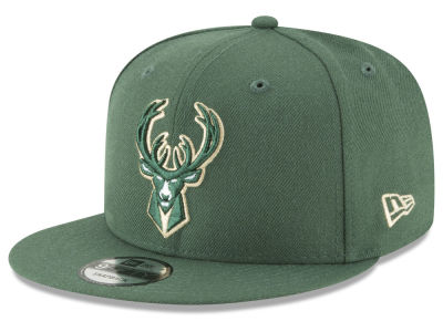 Milwaukee Bucks New Era NBA Team Metallic 9FIFTY Snapback Cap