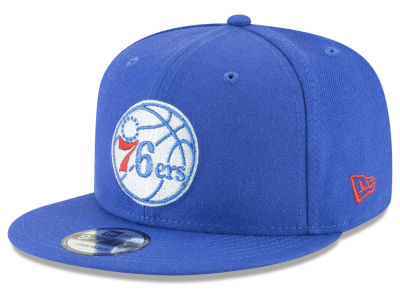 Philadelphia 76ers New Era NBA Team Metallic 9FIFTY Snapback Cap