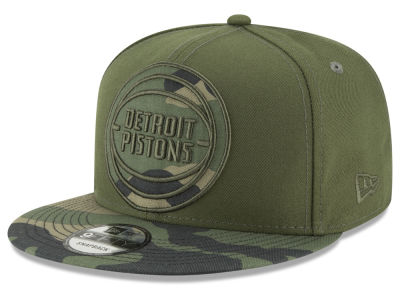 Detroit Pistons New Era NBA Operation Camo 9FIFTY Snapback Cap