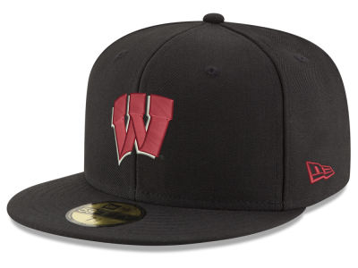 Wisconsin Badgers New Era NCAA Shadow 59FIFTY Cap