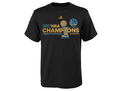 Golden State Warriors adidas 2017 NBA Youth Champ Locker Room T-Shirt