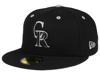 Colorado Rockies New Era MLB Black Series 59FIFTY Cap