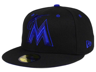 Miami Marlins New Era MLB Black Series 59FIFTY Cap