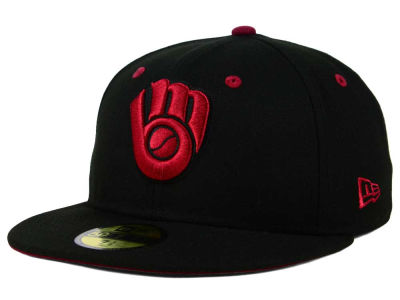 Milwaukee Brewers New Era MLB Black Series 59FIFTY Cap