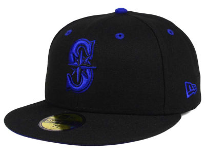 Seattle Mariners New Era MLB Black Series 59FIFTY Cap