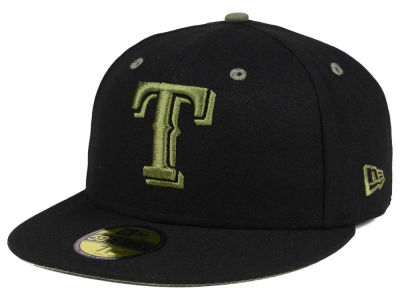 Texas Rangers New Era MLB Black Series 59FIFTY Cap