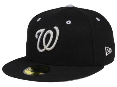 Washington Nationals New Era MLB Black Series 59FIFTY Cap