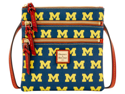 Michigan Wolverines Dooney & Bourke Triple Zip Crossbody Bag
