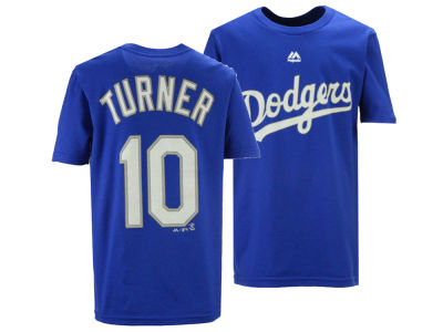 Los Angeles Dodgers Justin Turner Majestic MLB Youth Official Player T-Shirt 38acc471e1c