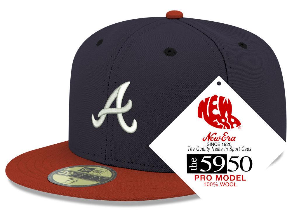 faf584cc83c Atlanta Braves New Era MLB Retro Classic 59FIFTY Cap