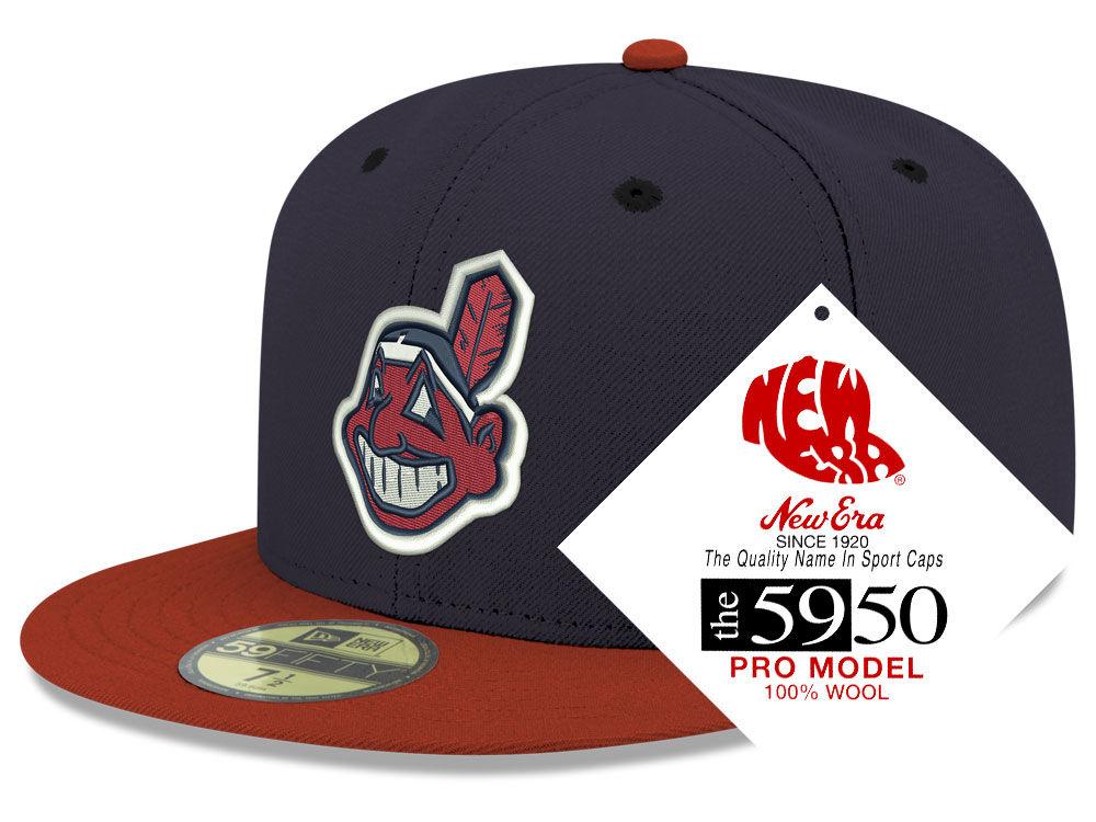 Cleveland Indians New Era MLB Retro Classic 59FIFTY Cap  e2ffe7a3e82
