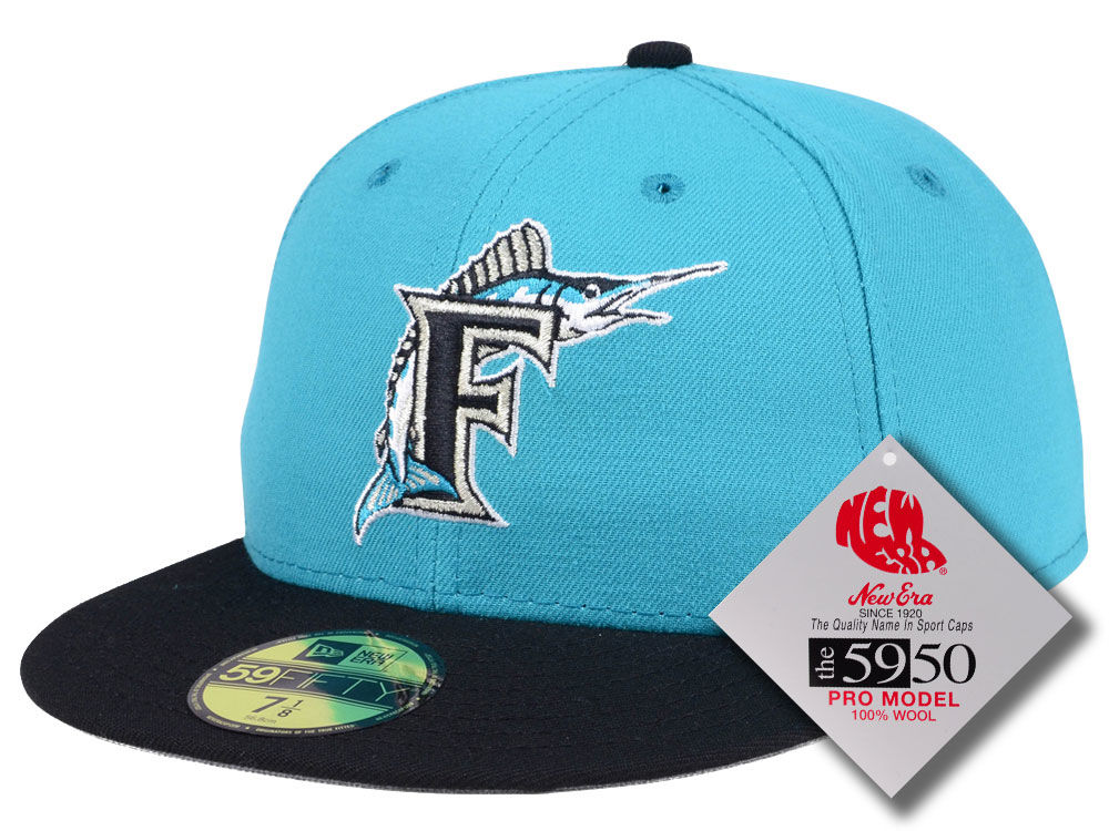 764b8978fcf Florida Marlins New Era MLB Retro Classic 59FIFTY Cap