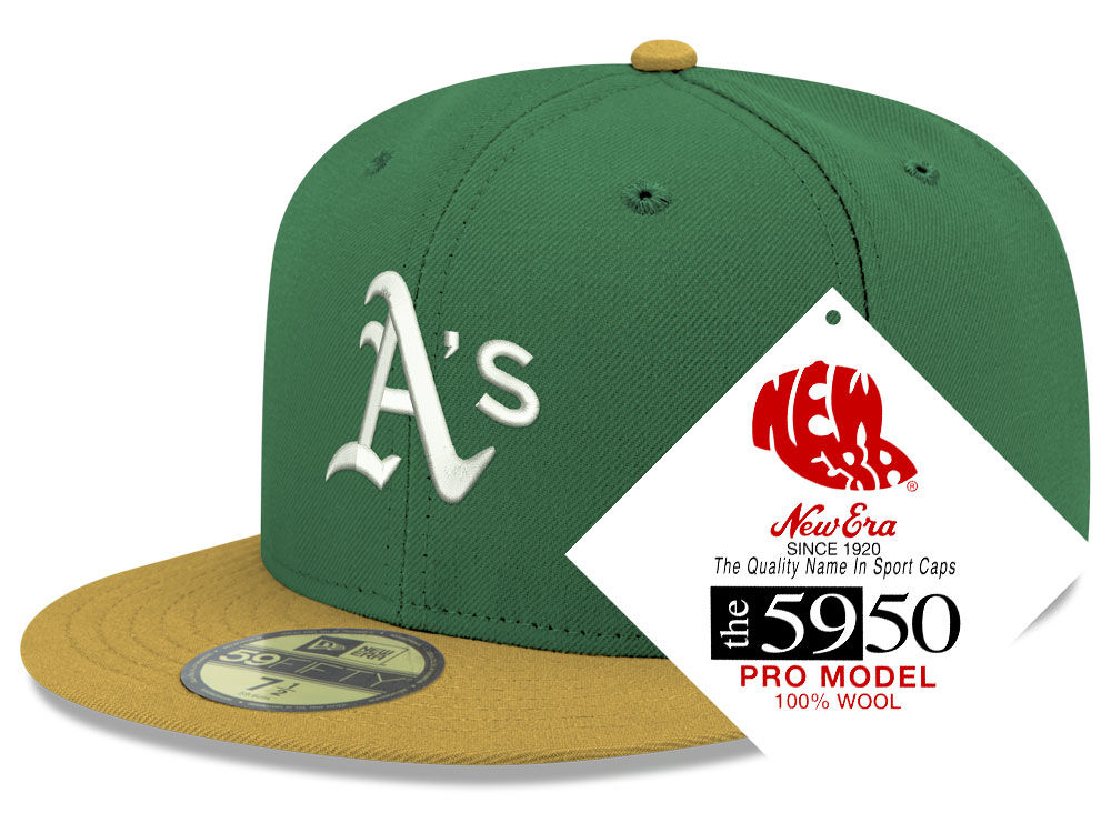 Oakland Athletics New Era MLB Retro Classic 59FIFTY Cap  141edbb73133