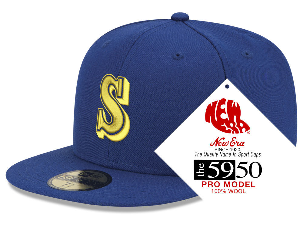 Seattle Mariners New Era MLB Retro Classic 59FIFTY Cap  f96eb344c437