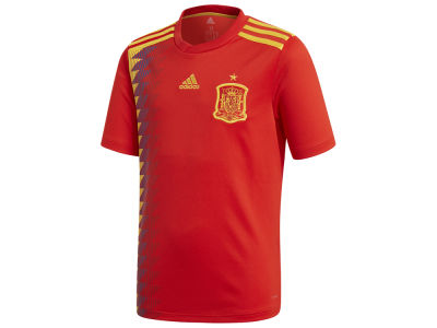 Spain adidas 2018 Youth National Team Home Stadium Jersey