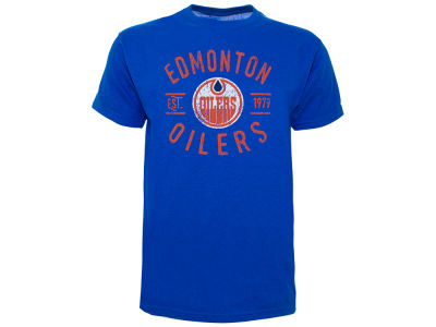 Edmonton Oilers Old Time Hockey NHL Men's Cycle Vintage T-Shirt