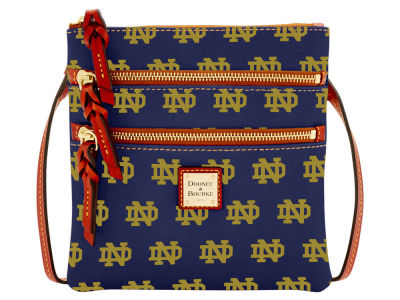 Notre Dame Fighting Irish Dooney & Bourke Triple Zip Crossbody Bag