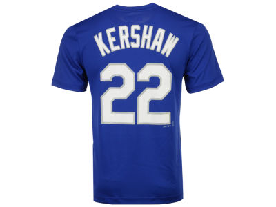 Los Angeles Dodgers Clayton Kershaw Majestic MLB Men's Cool Base Name and Number T-Shirt