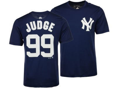 New York Yankees Aaron Judge Majestic MLB Men's Cool Base Name and Number T-Shirt