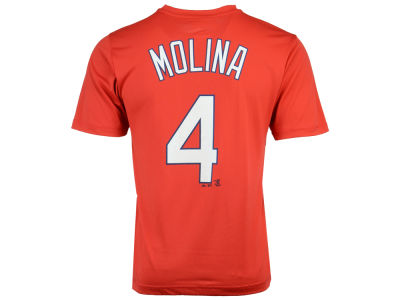 St. Louis Cardinals Yadier Molina Majestic MLB Men's Cool Base Name and Number T-Shirt