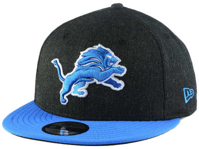 Detroit Lions New Era NFL Heather Black 9FIFTY Snapback Cap