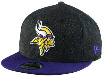 Minnesota Vikings New Era NFL Heather Black 9FIFTY Snapback Cap