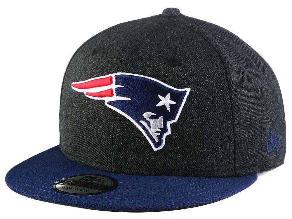 94bf0c7bb New England Patriots New Era NFL Heather Black 9FIFTY Snapback Cap ...