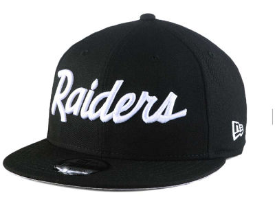 Oakland Raiders New Era NFL Script 9FIFTY Snapback Cap