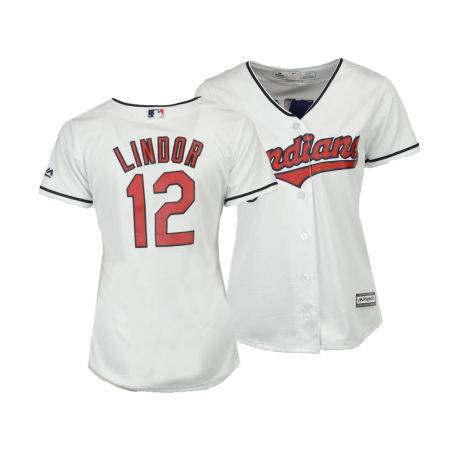Cleveland Indians Francisco Lindor MLB Women's Cool Base Player Replica Jersey