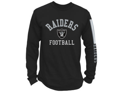 Oakland Raiders Junk Food NFL Men's Spread Formation Long Sleeve T-Shirt
