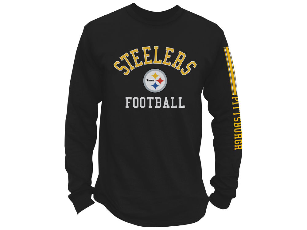 Pittsburgh Steelers NFL Men s Spread Formation Long Sleeve T-Shirt ... 63908a2fe