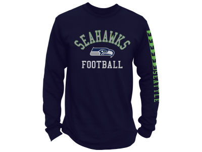 Seattle Seahawks Junk Food NFL Men's Spread Formation Long Sleeve T-Shirt