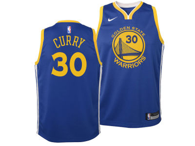 Golden State Warriors Stephen Curry Nike NBA Youth Icon Swingman Jersey
