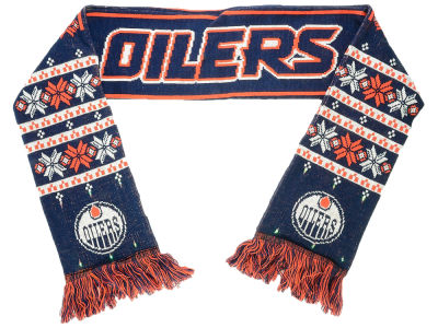 Edmonton Oilers Light Up Ugly Big Logo Scarf