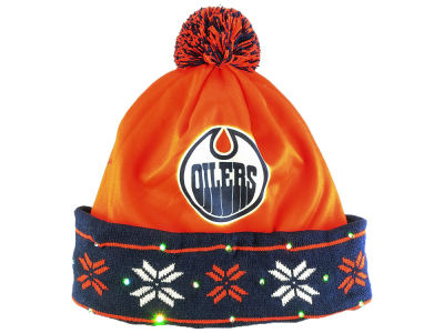 Edmonton Oilers NHL Light Up Ugly Printed Toque