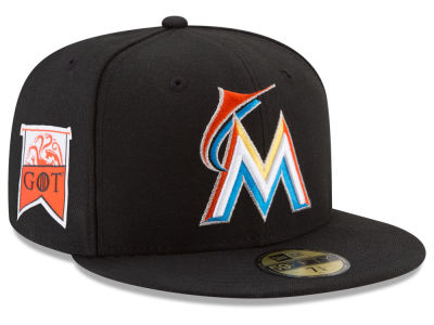 Miami Marlins New Era MLB Game of Thrones 59FIFTY Cap