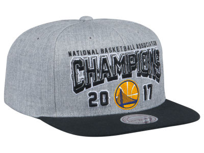 Golden State Warriors Mitchell & Ness 2017 NBA Champ Heather Snapback Cap
