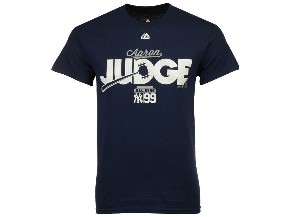 New York Yankees Aaron Judge Majestic MLB Men s Judge Gavel T-Shirt ... a012ee9e8be