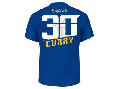 Golden State Warriors Stephen Curry Majestic 2017 NBA Men's Finals Champ Player T-Shirt